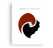 Dawn of Justice Canvas Print