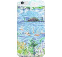 Five Boats in the Bay iPhone Case/Skin