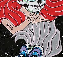 Sugar Skull Ariel And Ursula by Katherine  OGane
