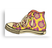 colored pattern gym shoes Canvas Print