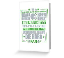 Die Hard Fan T-shirt Greeting Card
