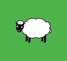 cute funny sheep cartoon by tabbygun