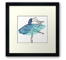 ballerina figure, watercolor Framed Print