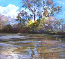 'The Goulburn at Ekbergs' by Lynda Robinson