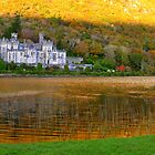 Kylemore Abbey Autumnal Colours and Reflections by Honor Kyne