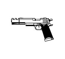 Pistol Silhoutte by ThedoubleAteam
