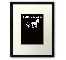 I don't give a rats ass Framed Print