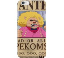 Wanted Pekoms - One Piece iPhone Case/Skin