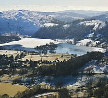 Grasmere From Helm Crag - Lake District by Rod Unwin