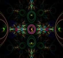CHICKEN VOODOO FRACTAL ART by adivawoman