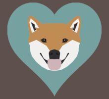 Shiba Love - Heart shiba inu funny dog for dog lovers pet gifts customizable dog meme dog person T-Shirt