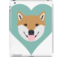 Shiba Love - Heart shiba inu funny dog for dog lovers pet gifts customizable dog meme dog person iPad Case/Skin