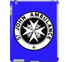 TARDIS St. John's Ambulance Logo (available as leggings!) iPad Case/Skin
