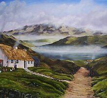 Irish Morning Mist - Oil Painting by Avril Brand