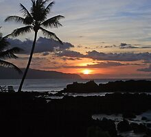 Kaena Point Sunset by Clark Thompson