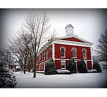 Iron County Courthouse in the Snow Photographic Print
