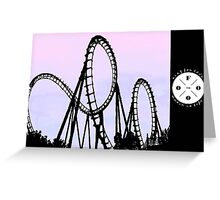 The FOOO Roller Coaster Greeting Card