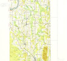 Maine USGS Historical Map Mars Hill 460594 1951 62500 by wetdryvac