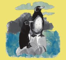 Penguins Watercolored Kids Clothes