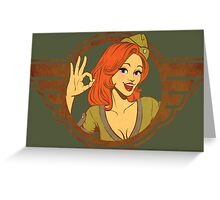 Atomic Girl  Greeting Card