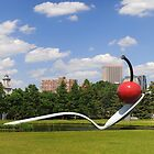 Minneapolis, Minnesota spoon and cherry sculpture by Jeff Hathaway