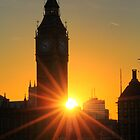 Sunset on Big Ben by Louis-Thibaud Chambon