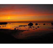 Sky Spilling Paint Onto The Beach Photographic Print