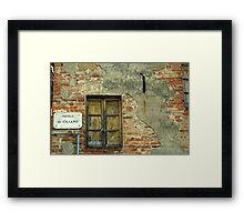 Window in a small town in Tuscany, Italy Framed Print