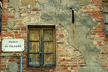 Window in a small town in Tuscany, Italy by fauselr