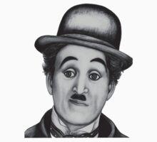 Charlie Chaplin t-shirt by Margaret Sanderson