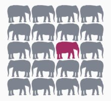 One Pink Elephant in the Herd Kids Clothes