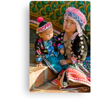 Thai Tribe Little girl Canvas Print