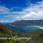 Wineglass Bay,  Season&#x27;s Greetings by Steven Weeks