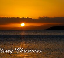 Coles Bay sunset, Merry Christmas by Steven Weeks