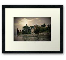 Chateau au Lac Como Framed Print