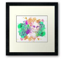 Girl Pattern Merge Framed Print
