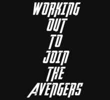 Workout Avengers- white text  by lokibending