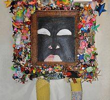 You're Standing In My Eye - Framed by Nancy Mauerman