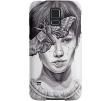 Girl with Moth Samsung Galaxy Case/Skin