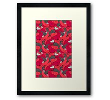 Purrrfect Pattern (Red) Framed Print