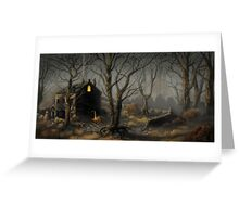 Creepy House Greeting Card