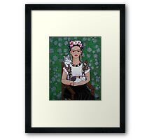 Frida cat lover Framed Print