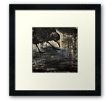 black rain 2 Framed Print