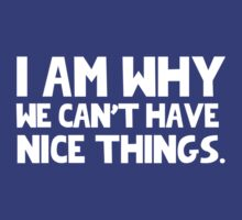 I Am Why We Can't Have Nice Things  by romysarah