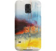 Yellow Blue Abstract Art Print Samsung Galaxy Case/Skin