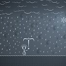 Typographic Rain by vladstudio