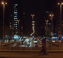 Av. Paulista at night by Gabriel Skoropada