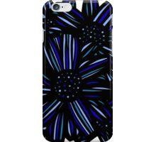 Elixir Flowers Blue White Black iPhone Case/Skin