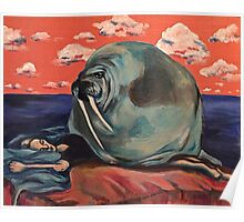 Surreal Walrus Dream  Poster
