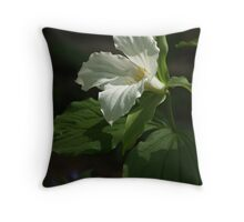 Trillium grandiflorum in May Throw Pillow